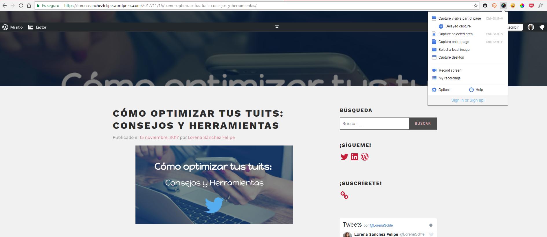 Captura pantalla pantallazos Community Manager